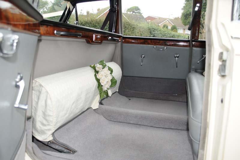 plush interiors of the car