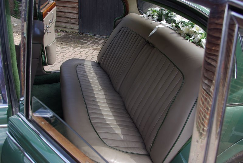inside the Jaguar car