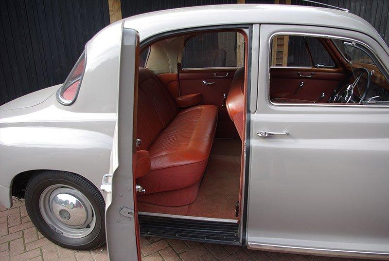 inside the Rover car