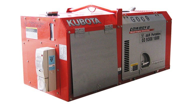 Kubota lowboy gl9000series2. 9kva generator