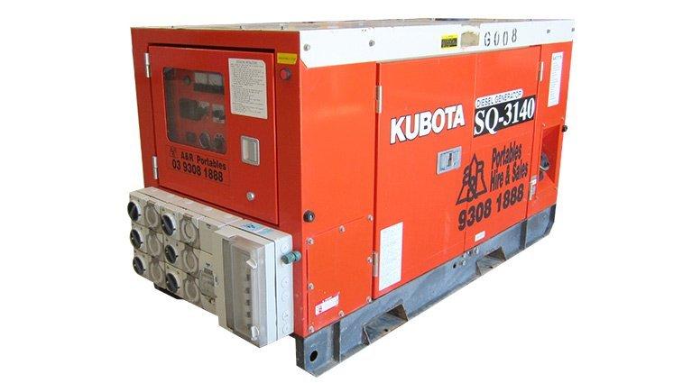 Kubota SQ3140. 14KVA Generators