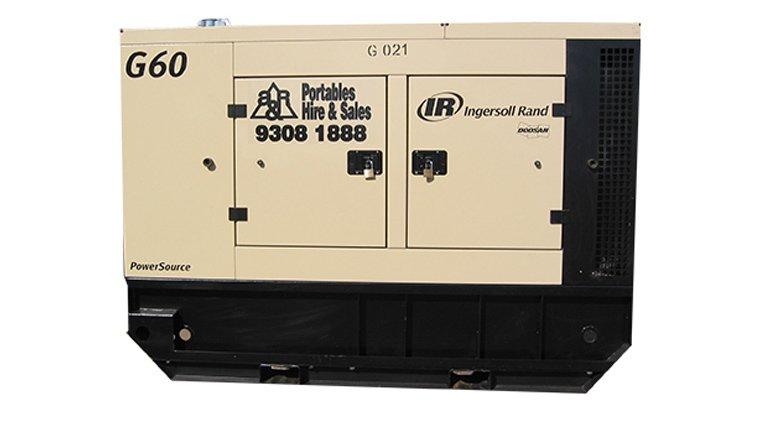Ingersoll Rand G60. 60KVA Generators