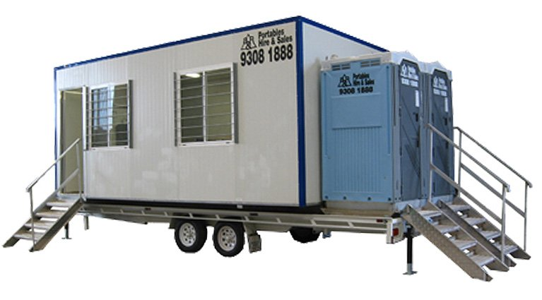 Portable building trailer option