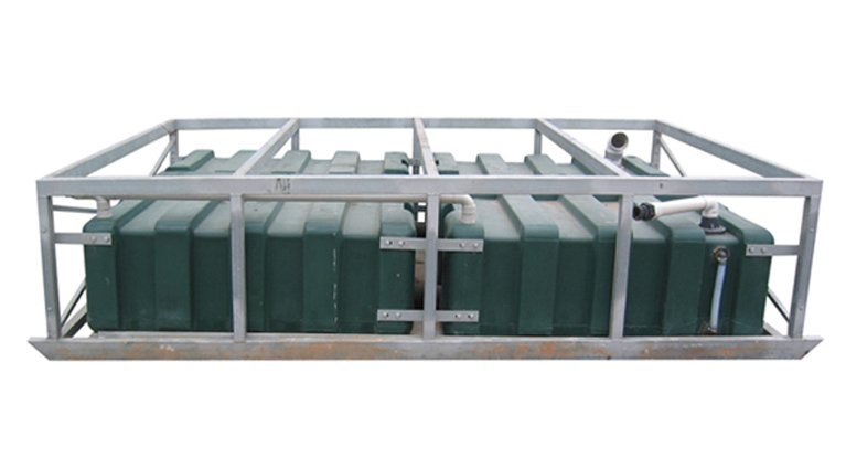 Portable toilet sewer tanks 3620 x 2325 x 820