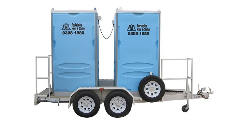 Dual trailer chemical toilets