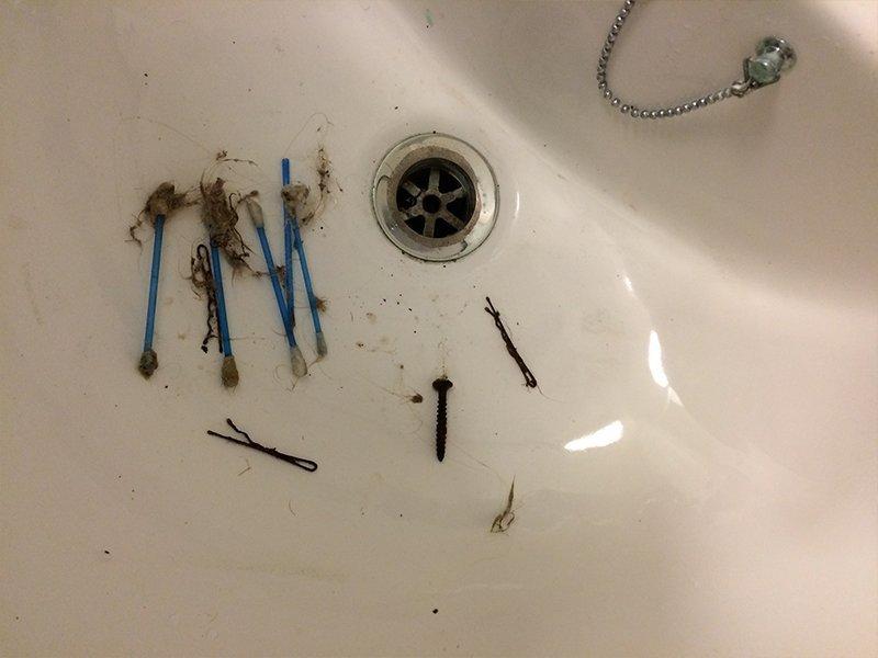 clogged sinks