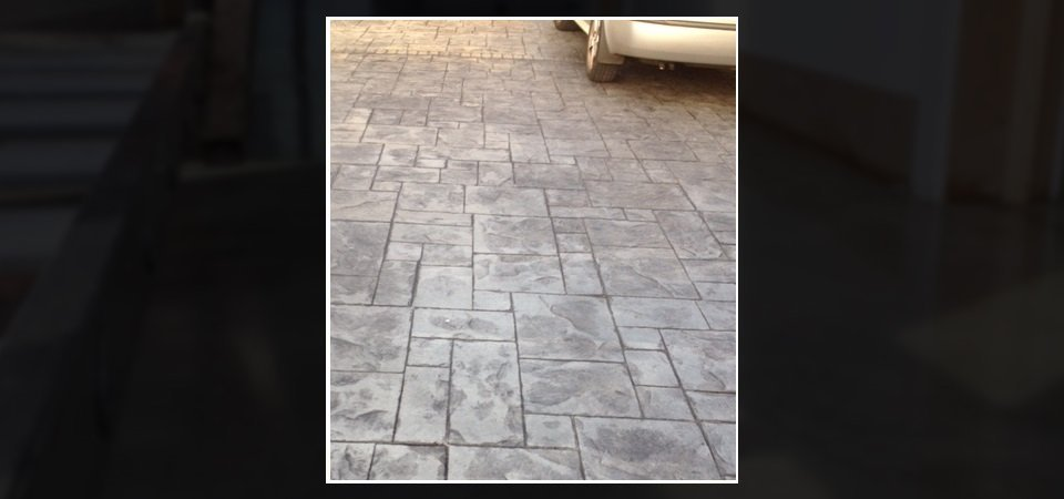 Durable imprinted driveways
