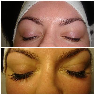Eyelashes before and after extensions