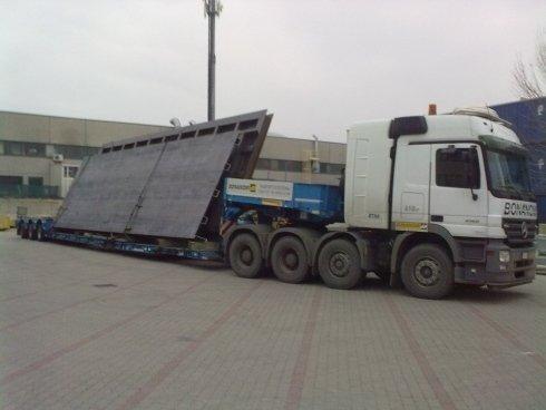 trasporto di materiale ingombrante