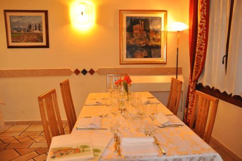 tavolo sala interna