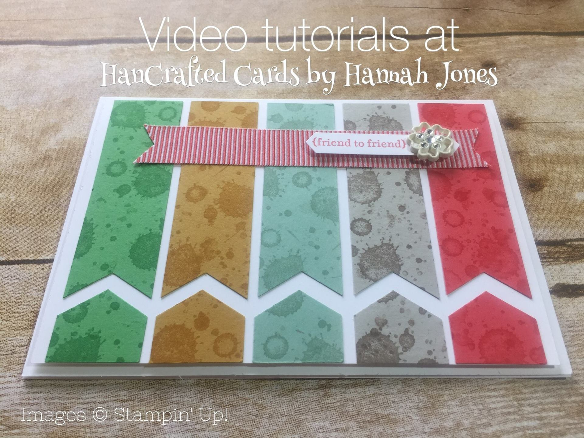 colourful strips card