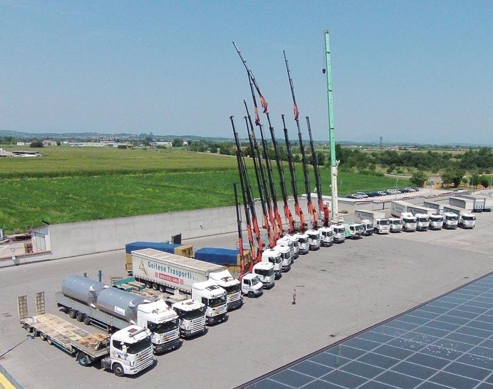 trasporti con camion - parco mezzi