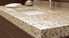 Piano lavandino in marmo