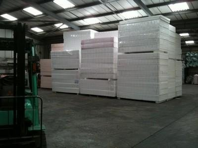 Flooring boards stacked