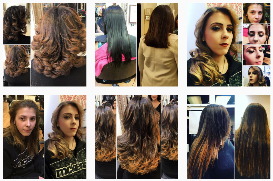 Ladies with different hairstyles in our salon