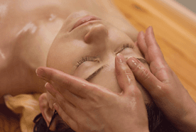 Ayurvedic head massage
