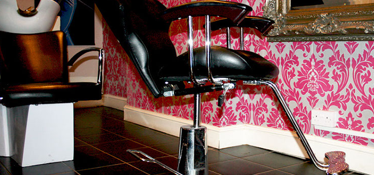 A chair in the salon