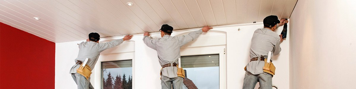 wa ceiling fixers workers moulds the ceiling