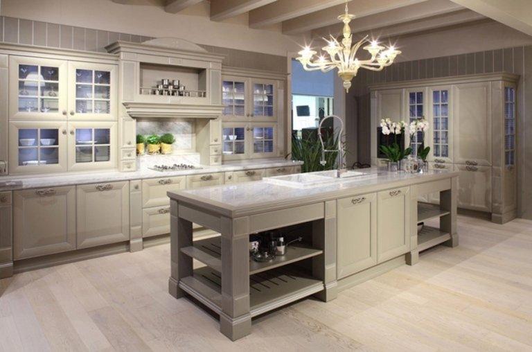 rustic light grey kitchen