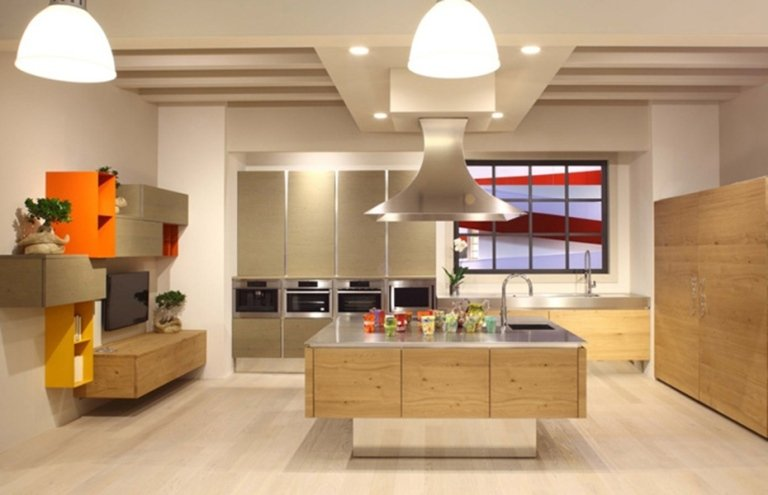 modern kitchens in wood