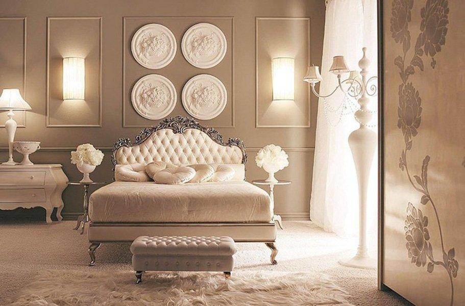 классические спальни с двуспальными кроватями