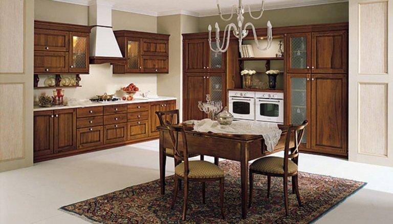 classic brown kitchen