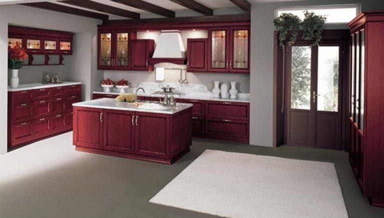 cucina rustica rossa