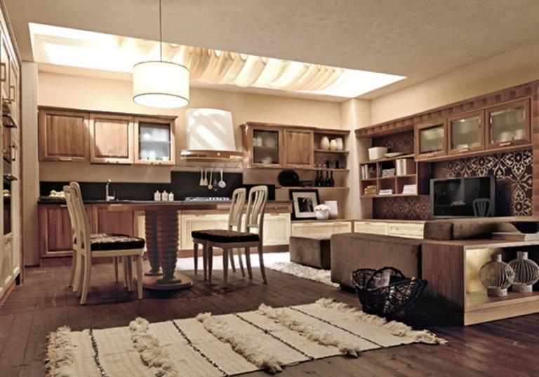 beige rustic kitchen
