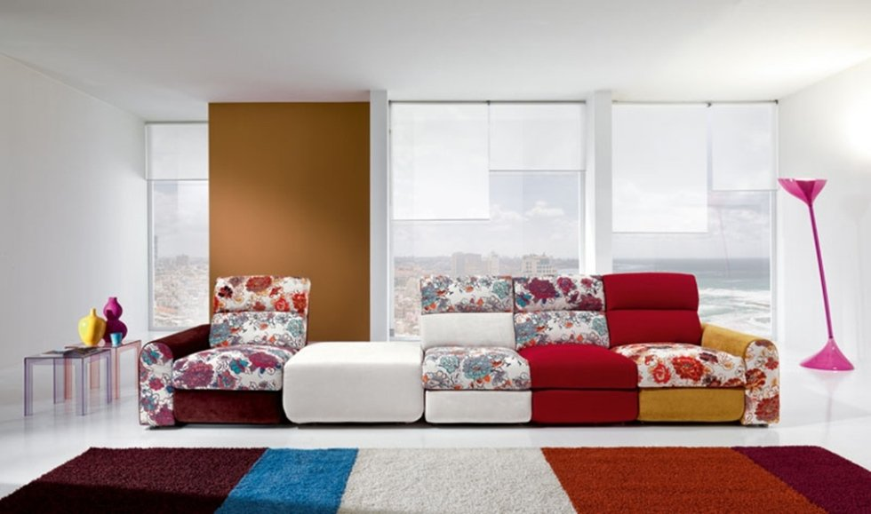 colourful modern sofas