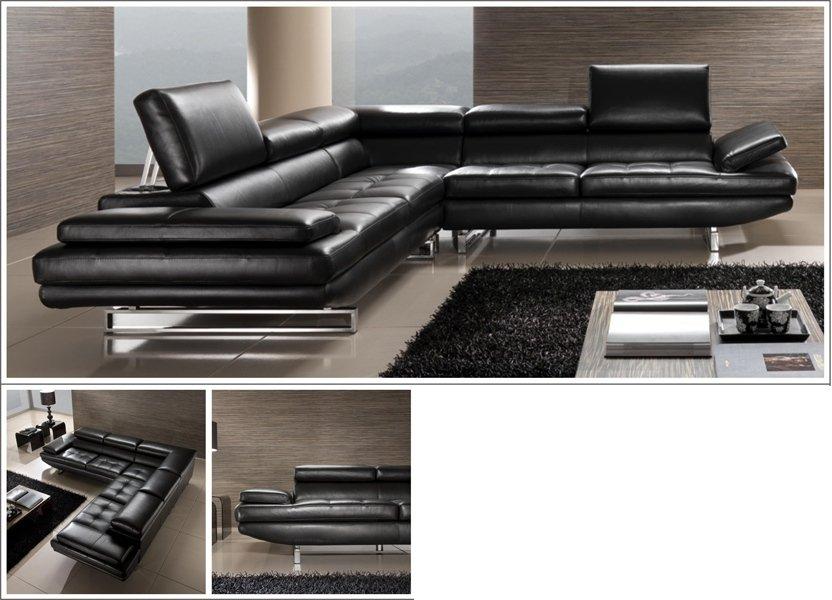 современный диван черного цвета