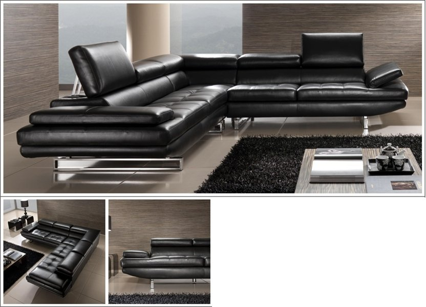 divano moderno nero