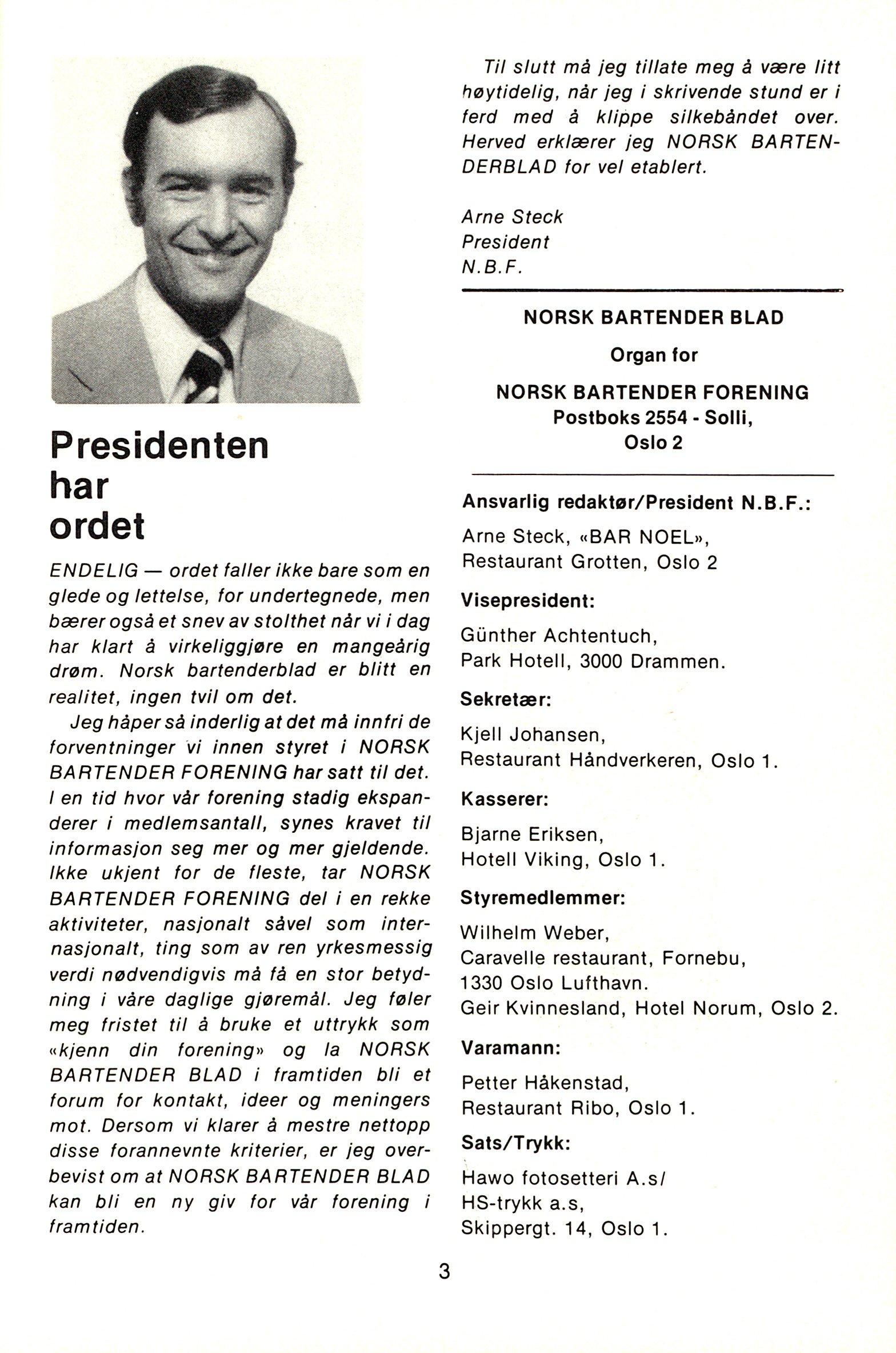 NB 1976 ÅRGANG 1 | Nr. 1 | Side 3