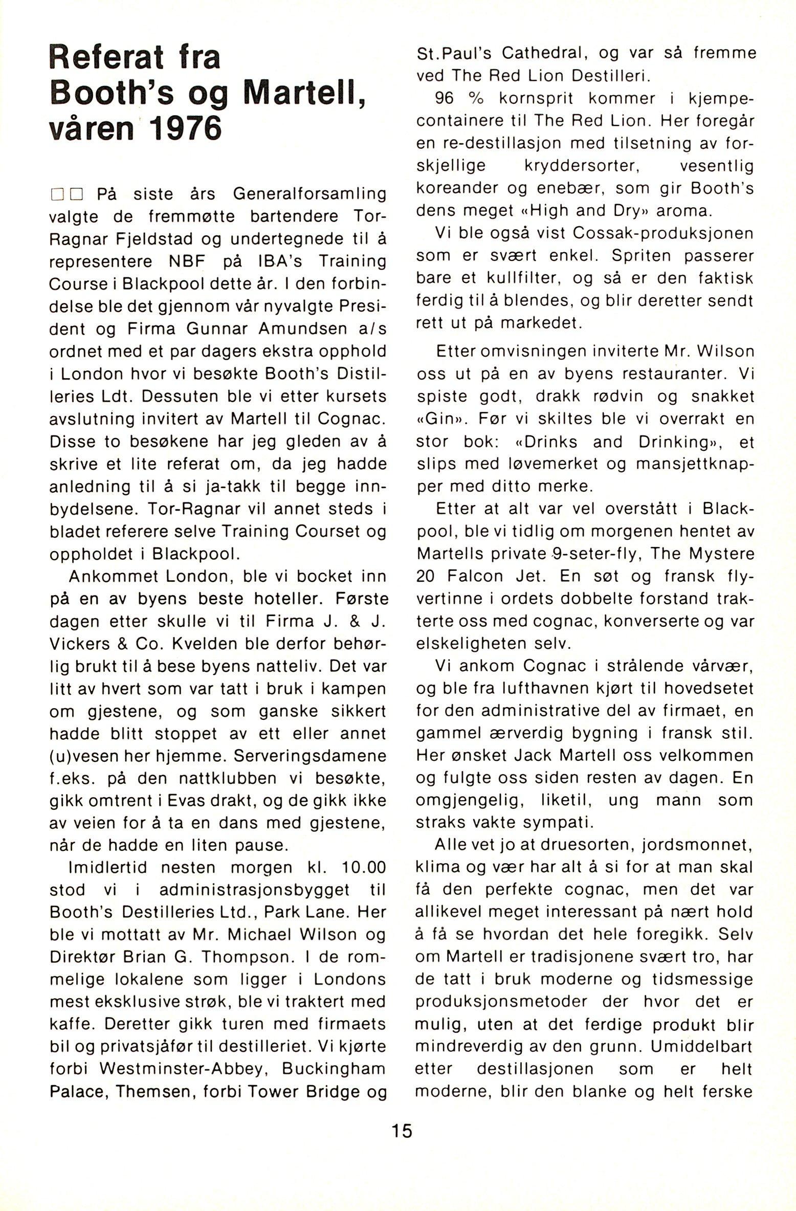 NB 1976 ÅRGANG 1 | Nr. 1 | Side 15