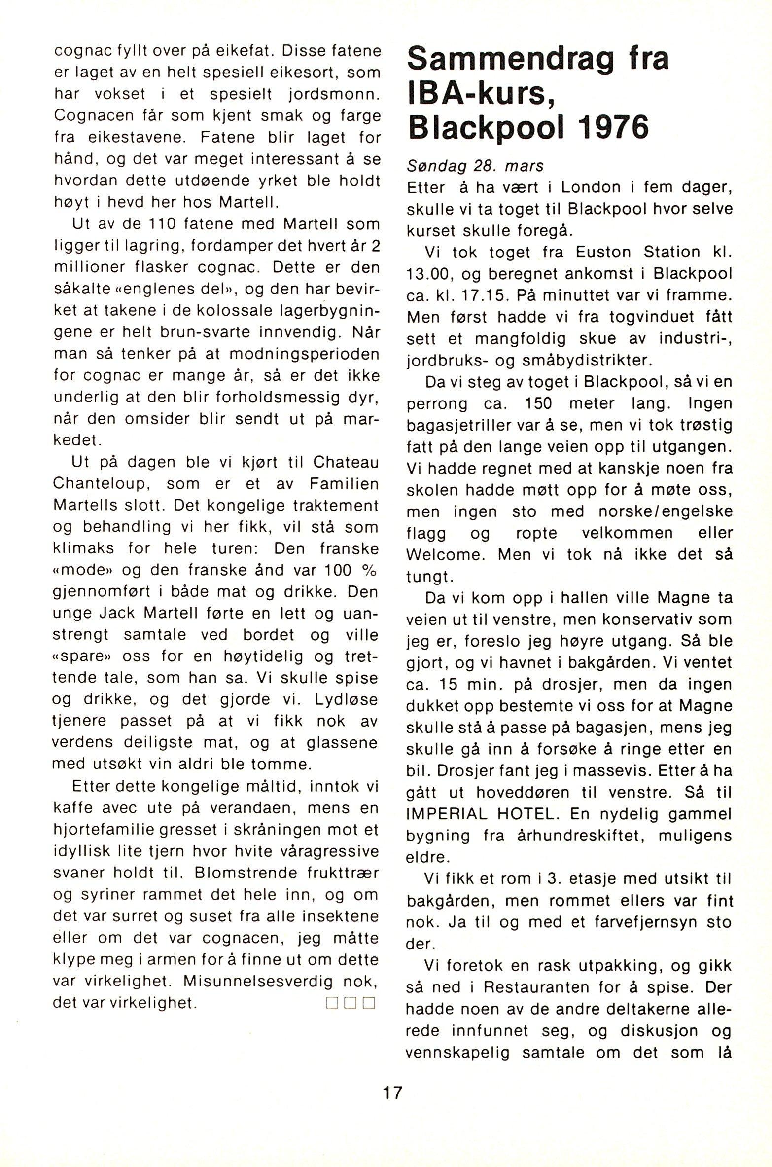 NB 1976 ÅRGANG 1 | Nr. 1 | Side 17