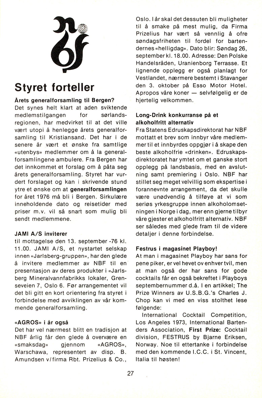 NB 1976 ÅRGANG 1 | Nr. 1 | Side 27