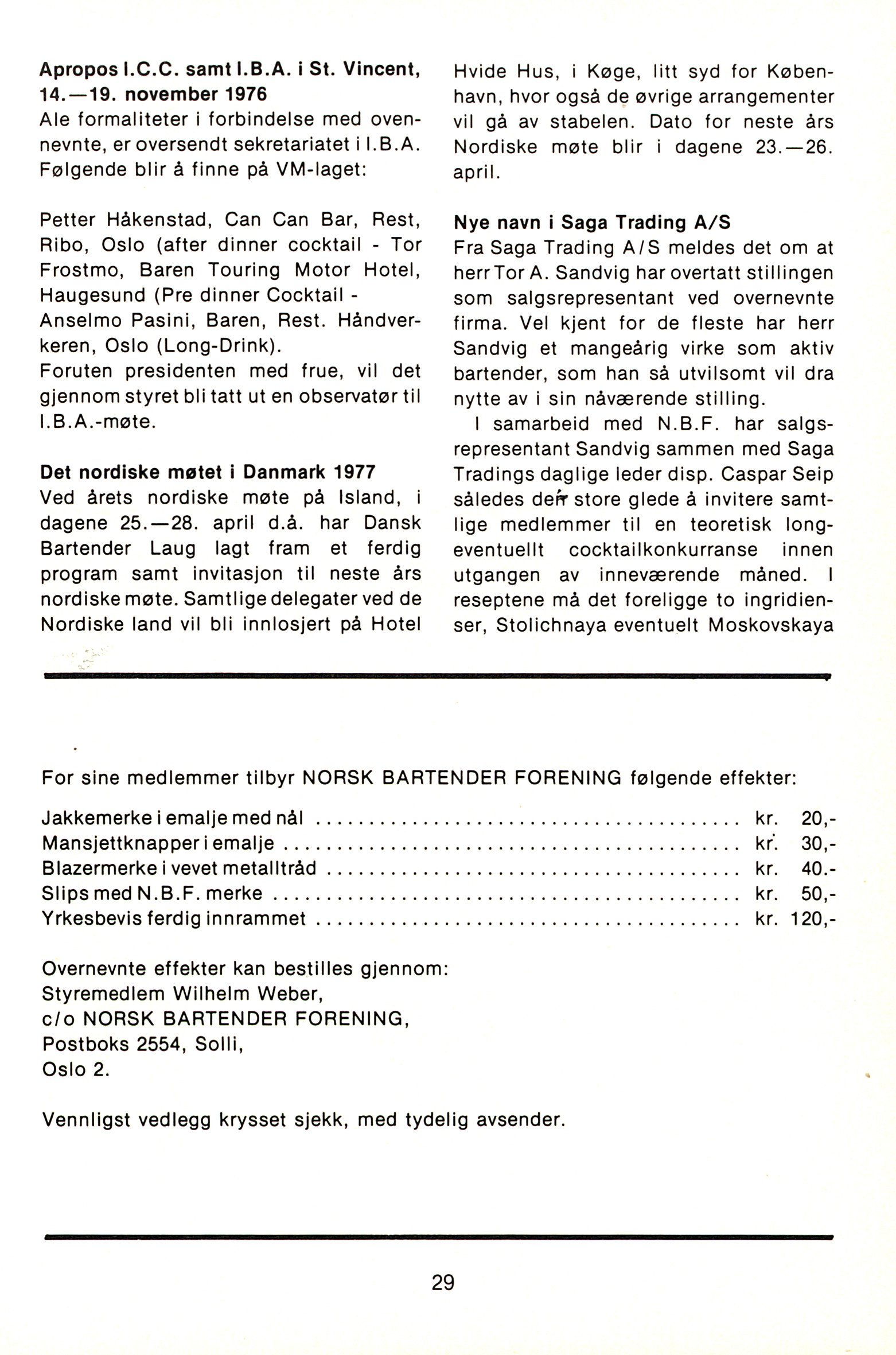 NB 1976 ÅRGANG 1 | Nr. 1 | Side 29