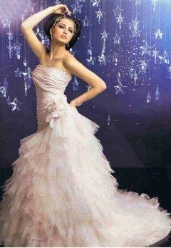 abito da sposa rosa, atelier sposa, negozio abiti spose