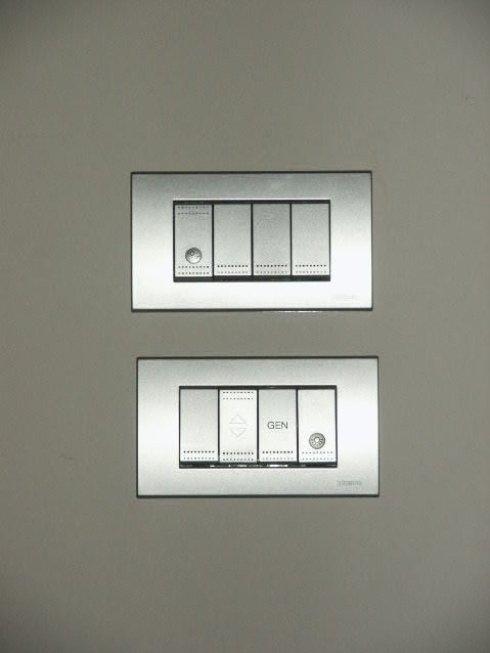 Interruttori elettrici per impianto civile
