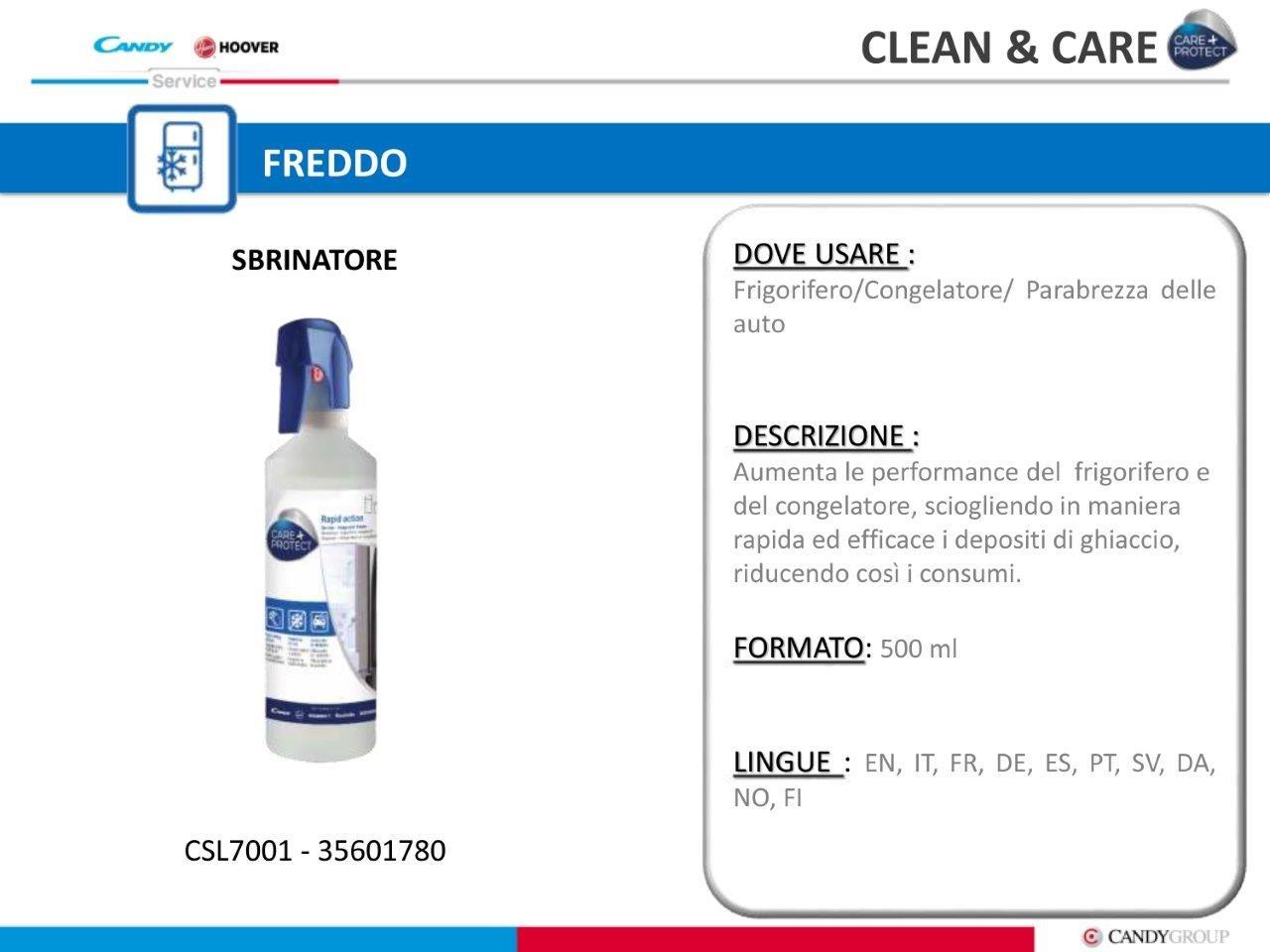 vendita prodotti clean&care hoover