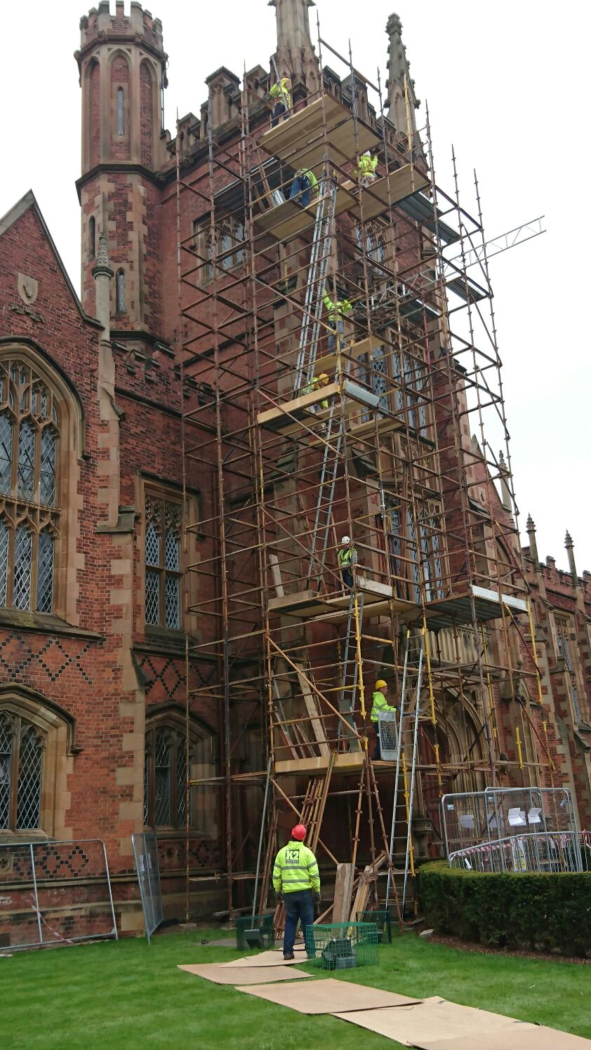 Scaffolding project at Queens University, Belfast
