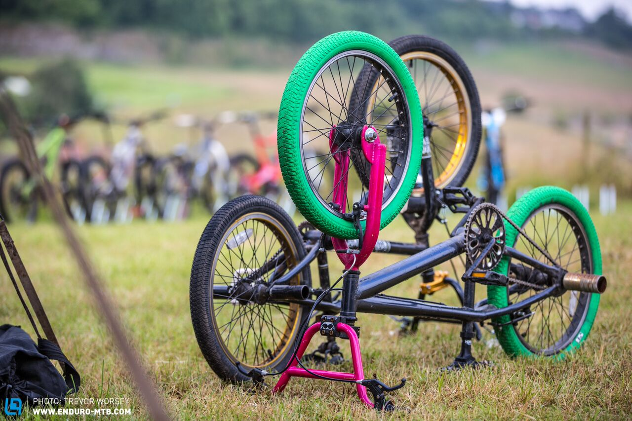 bikes parked colourful