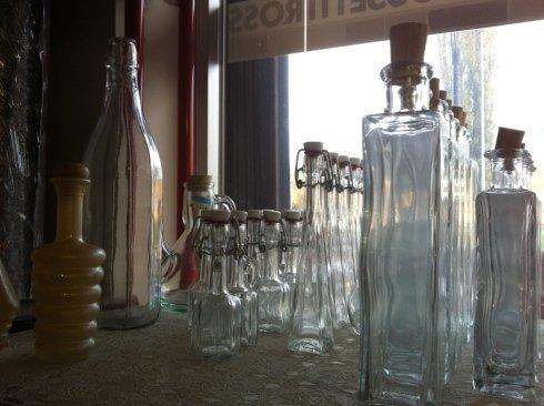 Promozione Natale: bottiglie in vetro per liquori, olio e vino