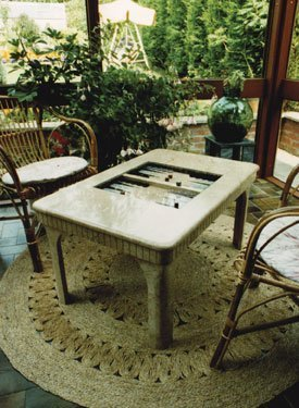 Coffee table of marble