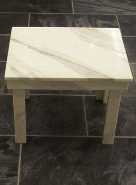 Table made of marble