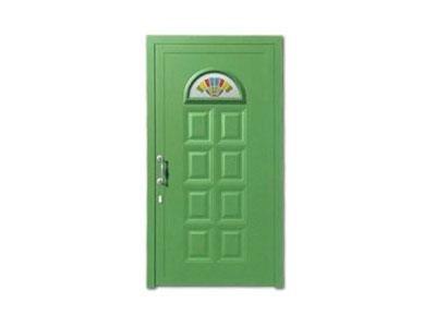 Porta verde chiaro - CAF serramenti Verbania