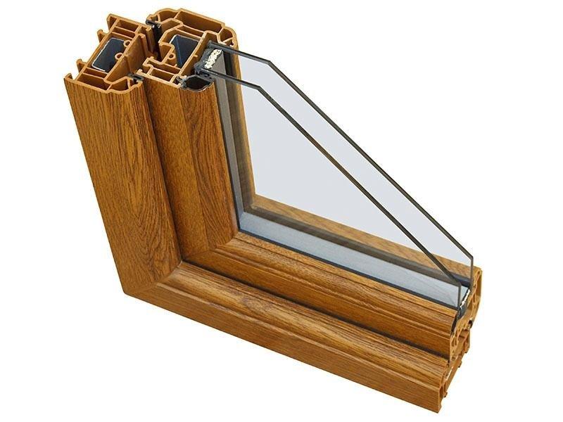 Dettaglio finestra pvc effetto legno - CAF Verbania