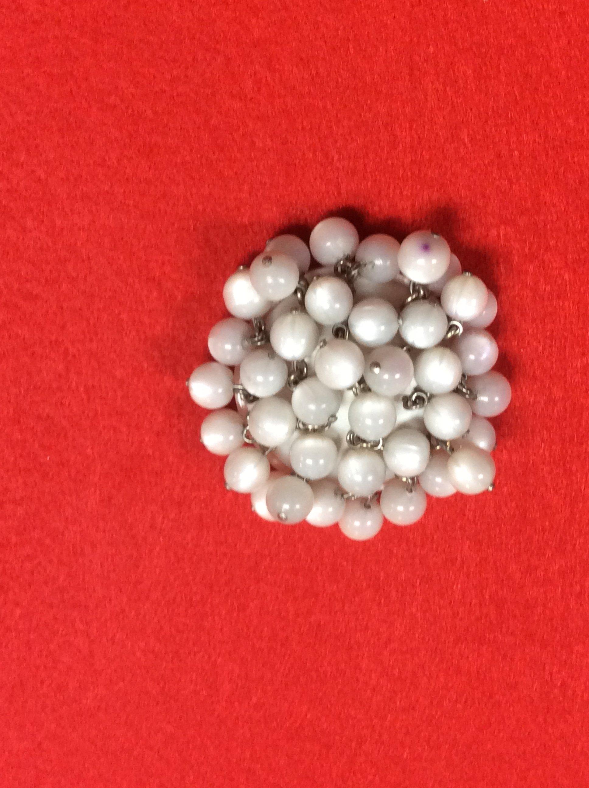 bottone con perline