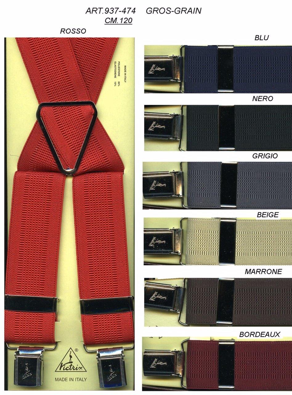 bretelle di diversi colori con il rosso in primo piano