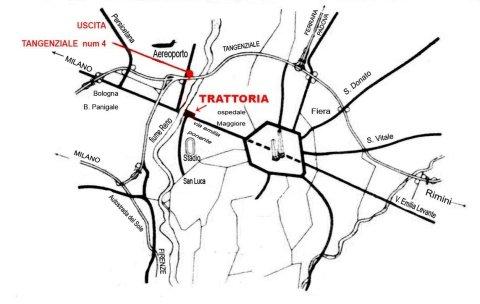 Mappa per arrivare al locale