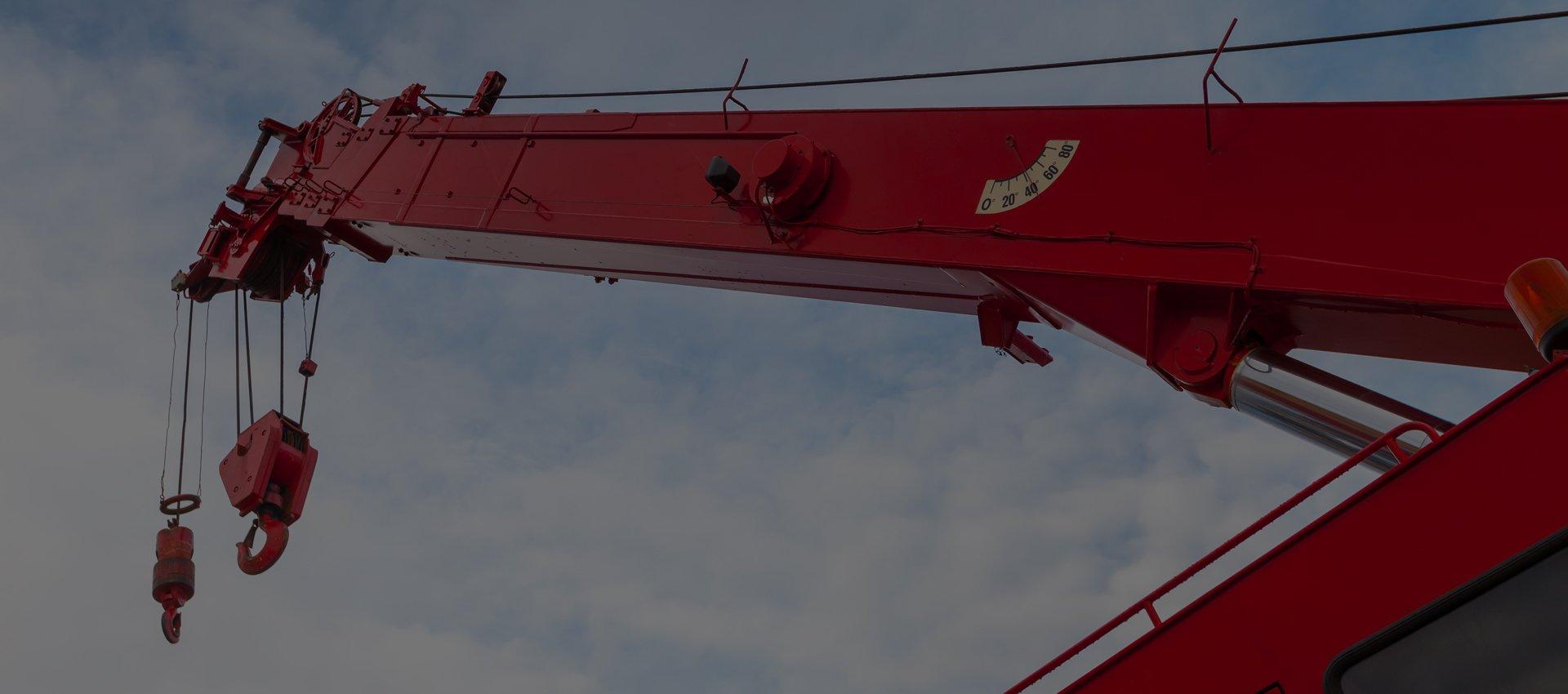 A red crane